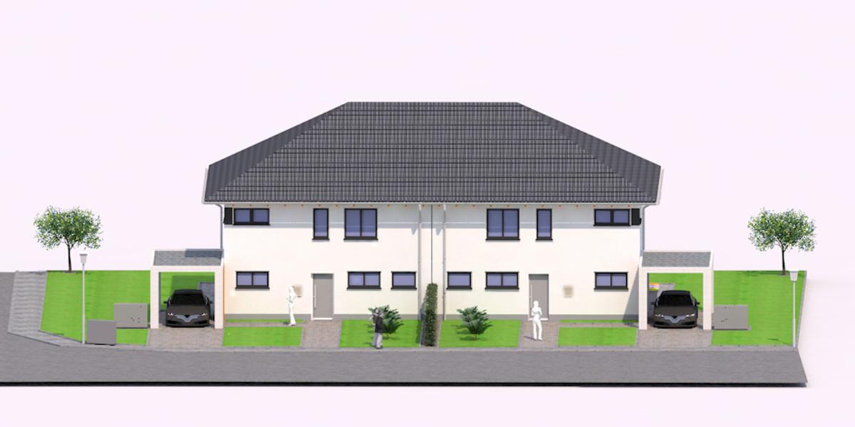 Doppelhaushälften in Rheinmünster-Stollhofen